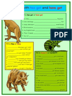 dinosaurs    practice with has got and have got