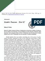 Godels Theorem Part II by Richard Wiebe
