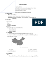Lesson plan about Music of China