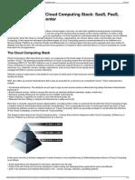 Understanding the Cloud Computing Stack SaaS, PaaS, IaaS