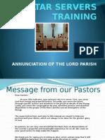 Altar Servers Training