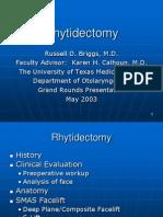 Rhytidectomy Slides 2003 0521