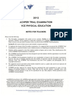 ACHPER PE Unit 3&4 Trial Exam 2012 answers
