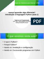 Aula básica de linguagem Python