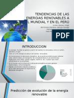 EXPOSICIÓN DE ENERGÍAS RENOVABLES EN EL PERÚ Y EL MUNDO