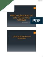 Psicología Social de Los Viajes y Del Turismo