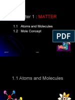 MATTER (1.1 Atoms and Molecules)