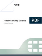 FortiDDoS Training Exercises