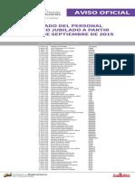 Lista de Obreros Jubilados ME Septiembre 2015 - Notilogia