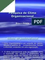 Pesquisa de Clima Organizacional Slides