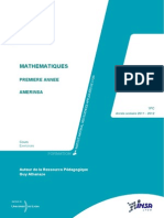 INSA_Mathématiques Cycle Préparatoire
