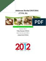 Cover Tentir Kedokteran Herbal 2015