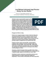 Pembelajaran Bahasa Indonesia Bagi Penutur Asing