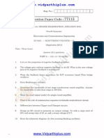 Electronics Circuits-II (Reg 2013) May June 2015 Question Paper(1)