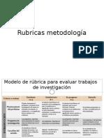 Rubricas metodología