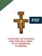 CANTO DE LAS LETANÍAS PARA INICIAR LA MISA EN EL TIEMPO DE CUARESMA -con partitura-