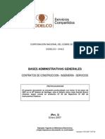 BASES ADMINISTRATIVAS GENERALES CONTRATOS DE CONSTRUCCION-INGENIERIA-SERVICIOS