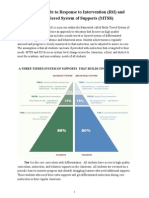 Parent Guide to RTI/MTSS