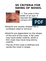 success criteria for drawing nose a3