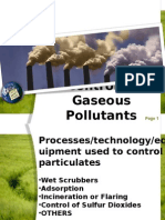 Control of Gaseous Pollutants (Group E)