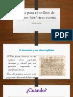 ANALISIS DE  FUENTES  HISTORICAS