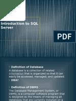 1 Introduction - SQL