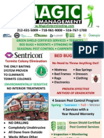 Magic Pest Management Service Brochure