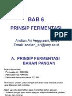 Mikrobiologi Pangan - BAB 6 - Prinsip Fermentasi