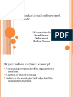 Organizational Culture and Climate