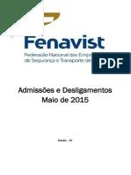 CAGED Maio2015 Fenavist