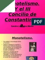 Monotelismo. El III Concilio de Constantinopla