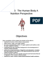 The Human Body a Nutrition Perspective