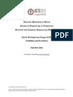 FYP Guidelines Sep 2011