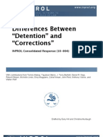 "Differences Between Detention"" and Corrections"" (CR 10-004)"