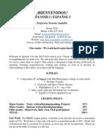 spanish 1 syllabus - y  andablo 2015-2016