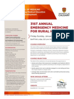 Emerg Medicine for Rural Hospital 2015 Brochure