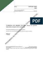 ISO 10802 - Pruebas de Presion de Tuberias de HD