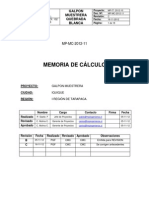 Memoria de Cálculo Galpón Muestrera