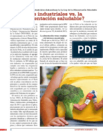 ¿Los industriales vs. la alimentación saludable?