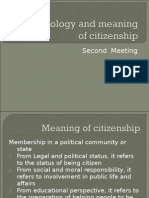 Terminology and Meaning of Citizenship