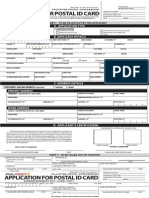 Application for Postal ID Card Philippines