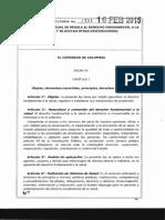 Ley 1751 de 2015 Estatutaria de Salud