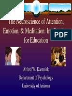Attention Emotion and Meditation