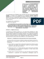 PROYECTO DE LEY PARA QUE FF.AA. APOYEN A POLICÍA EN PATRULLAJE Y LUCHA CONTRA INSEGURIDAD CIUDADANA