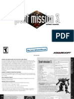 Original Manual Front Mission 3 - 1999 - PSX