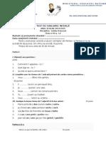 Test de Evaluare Iniţială - clasa a 6-a