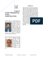 Development of Innovative Long-Span Floor Systems for Multi-Story Residential Steel Construction (Conference Proceedings Article)