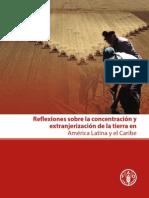 Reflexiones sobre la concentración y extranjerización de la tierra