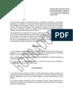 Segundo borrador del proyecto de dictamen sobre minuta de Ley de Obras