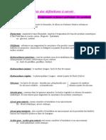 Listes Des Définitions à Savoir Cosmétologie Partie 1